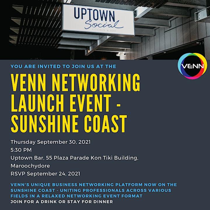 VENN Networking Event - 30 September, 2021 - Uptown Bar, Maroochydore image