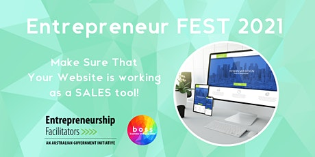 Entrepreneur FEST - Make sure that your website is working as a SALES tool tickets