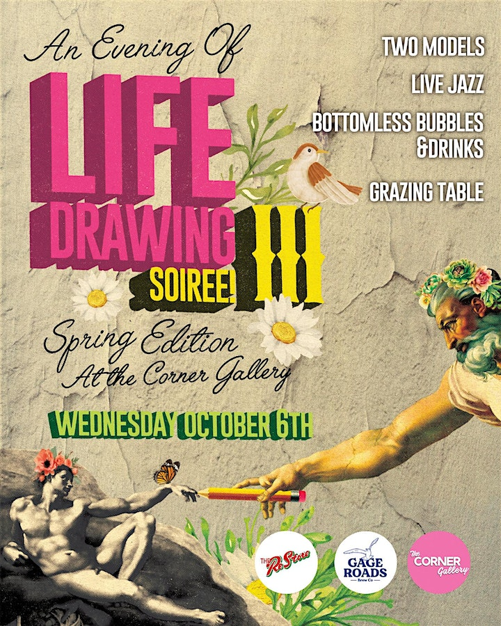 Evenings Of Life Drawing At The Corner Gallery SOIREÉ 'Spring Edition' image