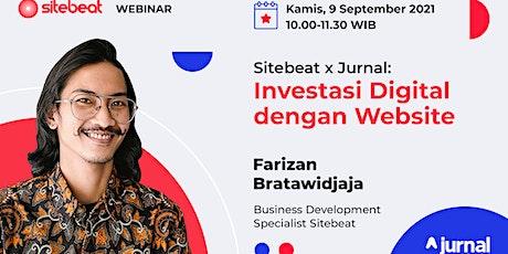 [Webinar Gratis] Sitebeat x Jurnal: Investasi Digital dengan Website tickets