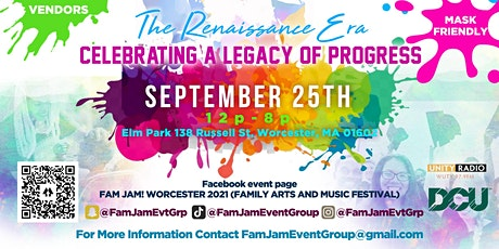 F.A.M. JAM! Family Arts and Music Festival Worcester 2021 tickets