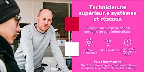INFO CO - SAINT-GAUDENS / Tech Sup Syst et Réseaux - Simplon (en ligne) tickets
