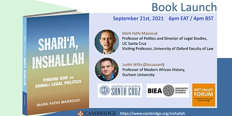 BOOK LAUNCH: 'Shari'a, Inshallah: Finding God in Somali Legal Politics' tickets