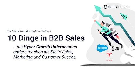 10 Dinge, die Hyper Growth Unternehmen im Sales anders machen als Sie Tickets