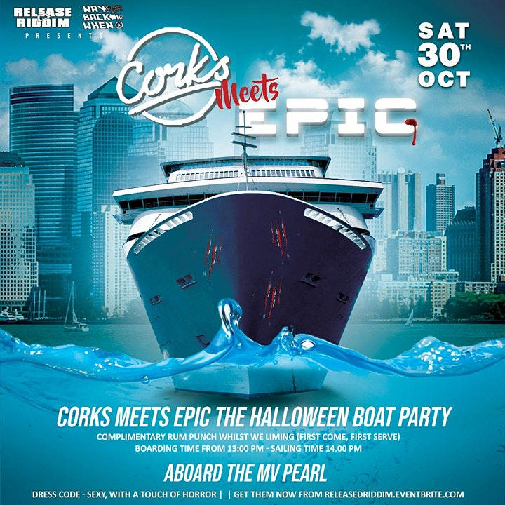 Corks meets Epic Halloween Boat Party image