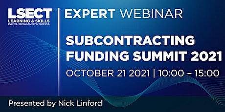 Subcontracting Funding Summit 2021 [WEBINAR] tickets