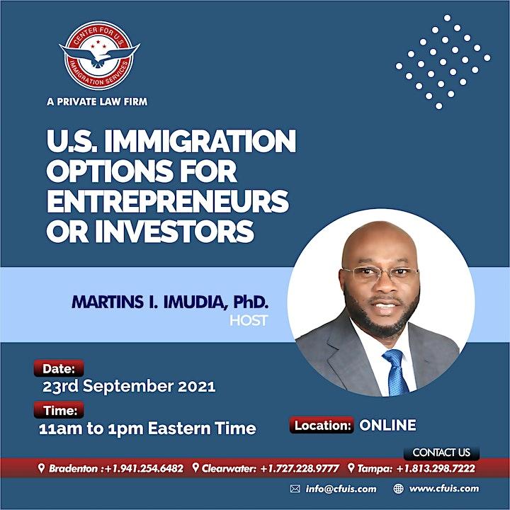 U.S. Immigration Options for Entrepreneurs or Investors image