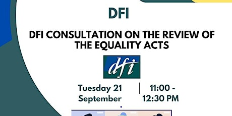 DFI Consultation on the Review of the Equality Acts tickets