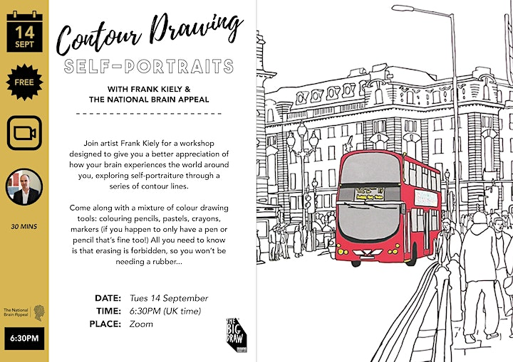 Contour Drawing with Frank Kiely, The National Brain Appeal & The Big Draw image