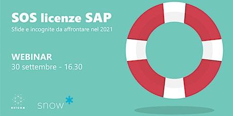 SOS licenze SAP – Sfide e incognite da affrontare nel 2021 biglietti