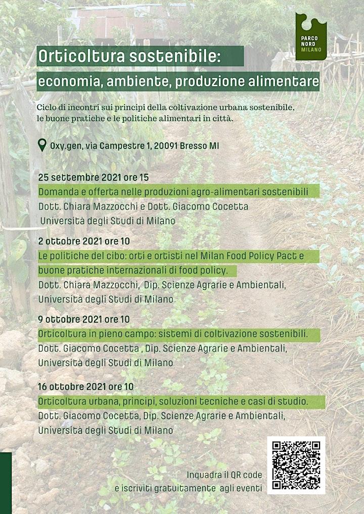 Immagine Orticoltura sostenibile:  economia, ambiente, produzione alimentare.
