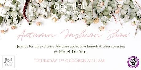Gemini  Autumn Fashion Show & Afternoon Tea tickets