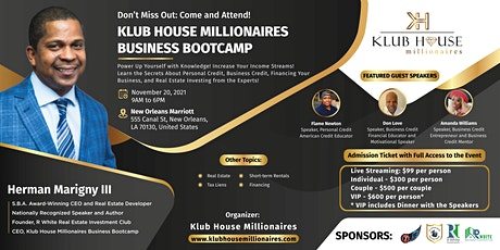 Klub House Millionaires Business Bootcamp tickets