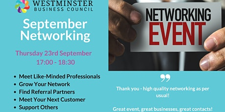 Business Networking with Westminster Business Council tickets