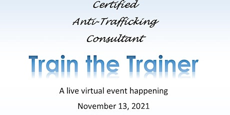 Online Version - Train the Trainer, Become an Anti-Trafficking Consultant tickets