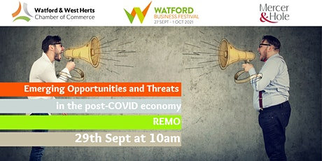 Emerging Opportunities and Threats in the post-COVID economy tickets