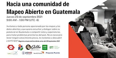 Hacia una comunidad de Mapeo Abierto en Guatemala entradas