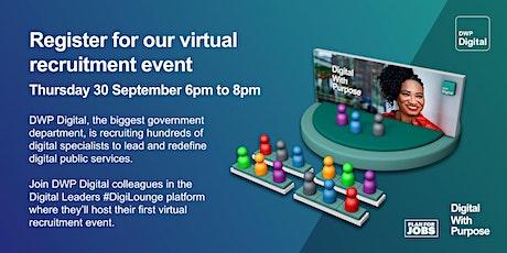 DWP Digital Virtual Recruitment Evening tickets