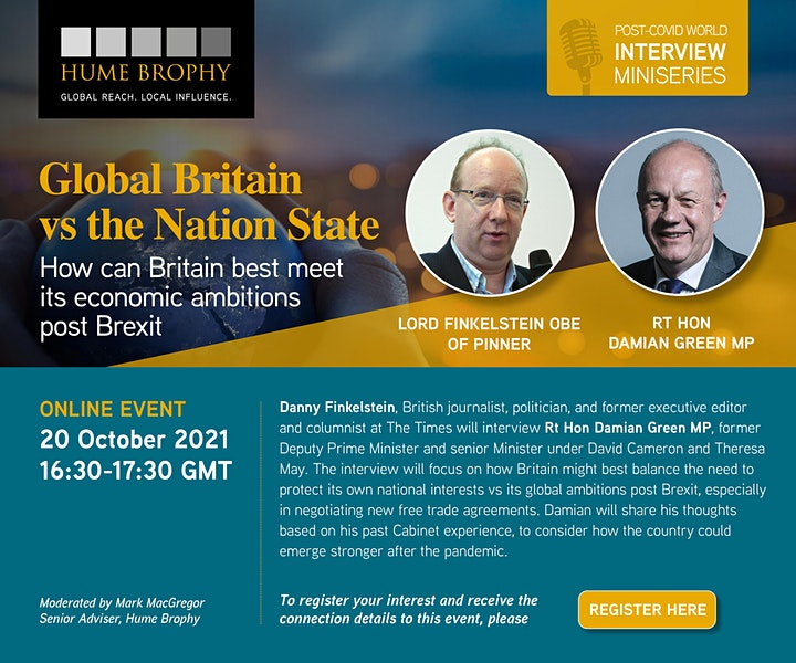 Global Britain vs The Nation State: How best to meet our economic ambitions image