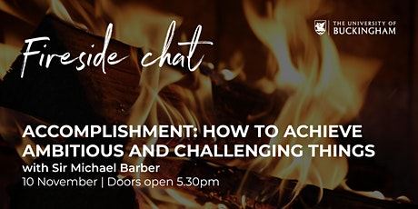 Fireside Chat - Sir Michael Barber tickets