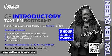 Introductory GA Tax Lien Bootcamp Live Webinar  [September 22, 2021] tickets