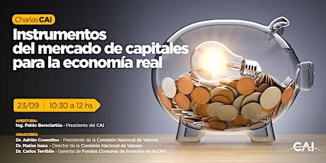 #CharlasCAI Instrumentos del mercado de capitales para la economía real entradas