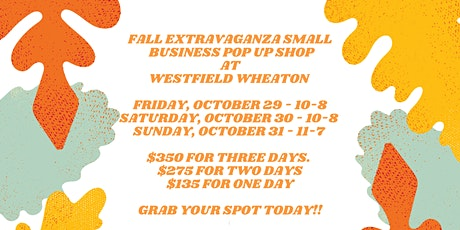 The FAB FALL Extravaganza Small Business PopUp Shop tickets
