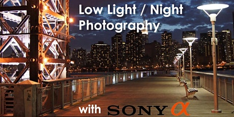 Low Light Photography w/ Sony tickets