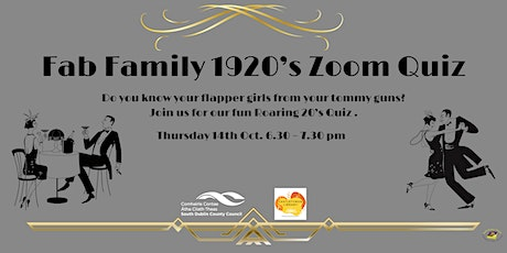 Fab Family 1920's Zoom Quiz tickets