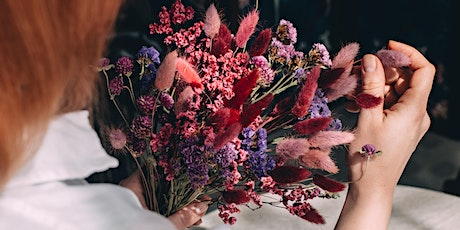 Dried Flower Bouquet Workshop with Plantology - FREE at Hedgerow Market tickets