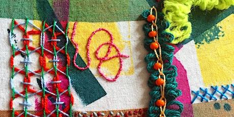 Mindful Doodle Stitch online workshop with artist Jessica Grady tickets