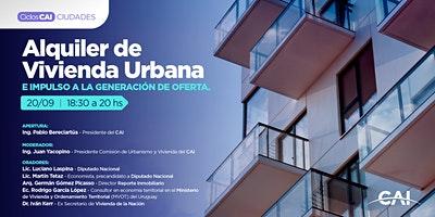 #CharlasCAI Alquiler de Vivienda Urbana e impulso a la generación de oferta