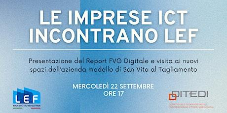 Le imprese ICT incontrano LEF biglietti