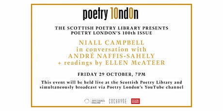 Poetry London's 100th issue launch at the Scottish Poetry Library: YouTube tickets