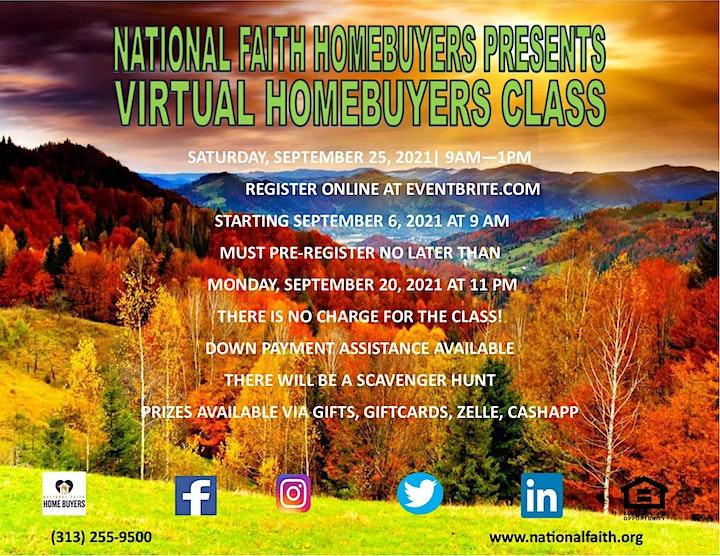 National Faith Homebuyers Virtual Workshop - SEPTEMBER 2021 image