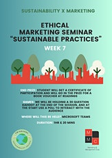 """Ethical Marketing Seminar """"Sustainable Practices"""" Tickets"""