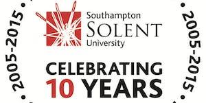 Southampton Solent University's tenth anniversary...