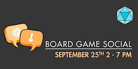 September Board Game Social tickets