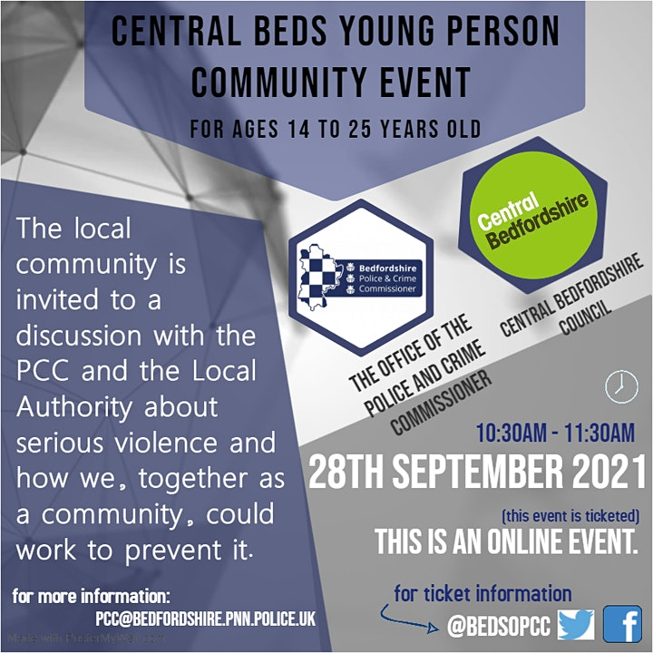 Central Beds Young Person Community Event for Ages 14 to 25 years old image