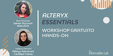 Alteryx Essentials | Modelli predittivi e Intelligence suite biglietti