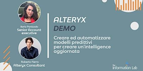 Alteryx Demo | Modelli predittivi e Intelligence suite biglietti