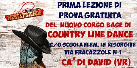 LEZIONE GRATUITA DI COUNTRY LINE DANCE LIVELLO BASE - CADIDAVID - VERONA biglietti