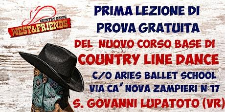 LEZIONE GRATUITA COUNTRY LINE DANCE LIVELLO BASE - SAN GIOVANNI LUPATOTO VR biglietti