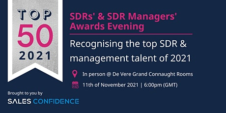 TOP 50 SDR & SDR Managers' Awards Evening in London with Sales Confidence tickets