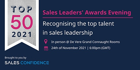 TOP 50 Sales Leaders Awards Evening in London with Sales Confidence tickets