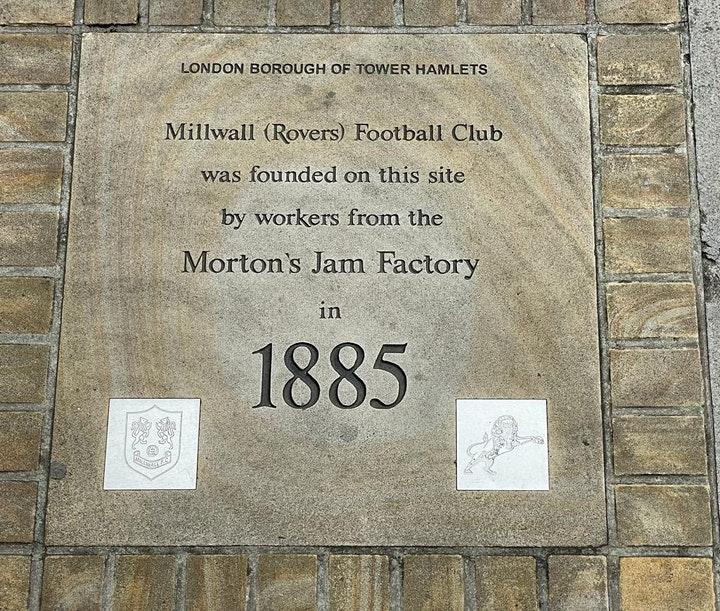 Millwall FC History & Heritage Walking Tour - 25 Years on the Isle of Dogs image