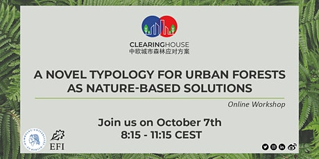 A novel typology for urban forests as nature-based solutions - workshop tickets