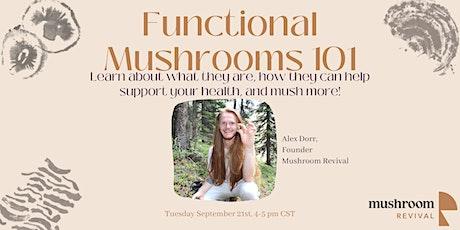 Functional Mushrooms 101 Webinar tickets