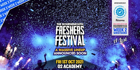 The Bournemouth Freshers Festival | Bournemouth Freshers 2021 tickets