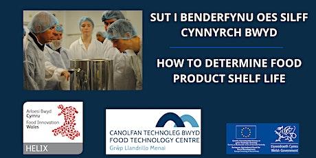 Penderfynu oes silff cynnyrch bwyd  / Determining food product shelf life tickets